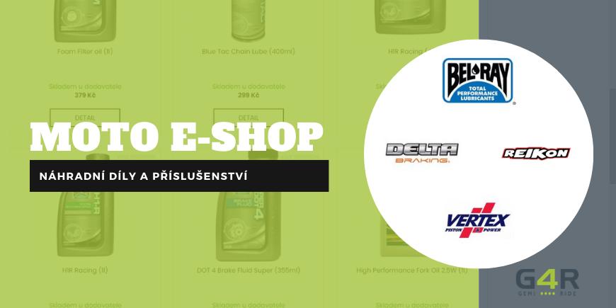 Autorizovaný moto e-shop s náhradními díly a příslušenstvím